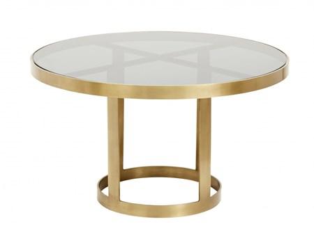 sofabord Sofabord Golden Black Glass fra Nordal