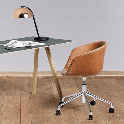 CPH 90 Skrivebord eik/linoleum fra Hay -