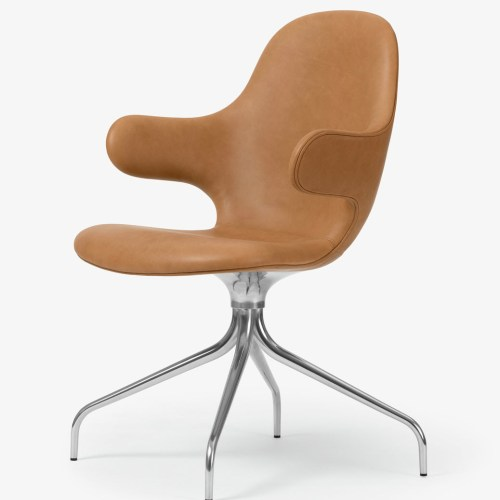 Catch Chair JH2 Leather Cognac fra &tradition -