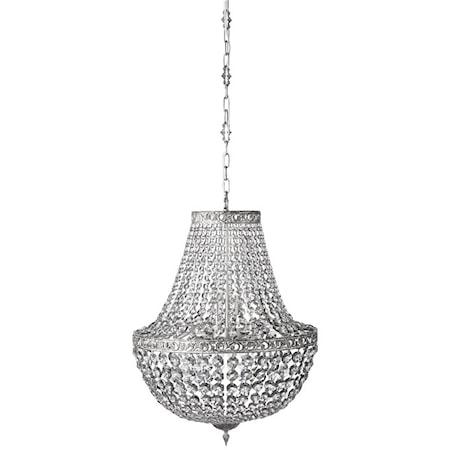 Divine Krystallkrone Shadow/Sølv Ø55 cm. fra Lene Bjerre