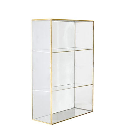 Lia Skap Klart Glass Messing 31x47cm fra Bloomingville