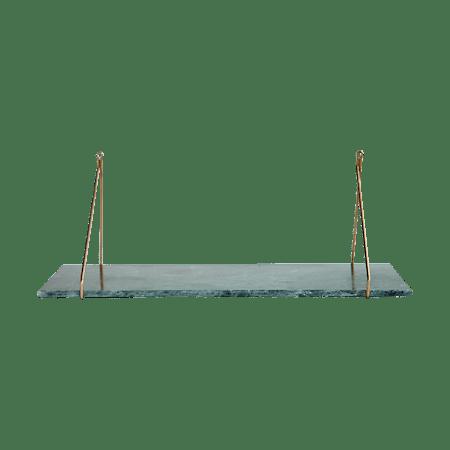 Marble Hylleplan Grønn Marmor 24x70 cm fra House Doctor