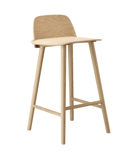 Nerd Bar Stool H:65 Oak - Muuto