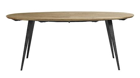Oval light wood spisebord fra Nordal