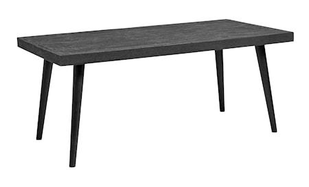 Rectangular black spisebord fra Nordal