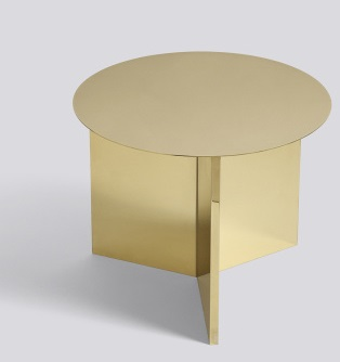 Slit Table Round - Hay