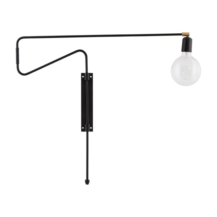 Vegglampe Swing Svart - House Doctor