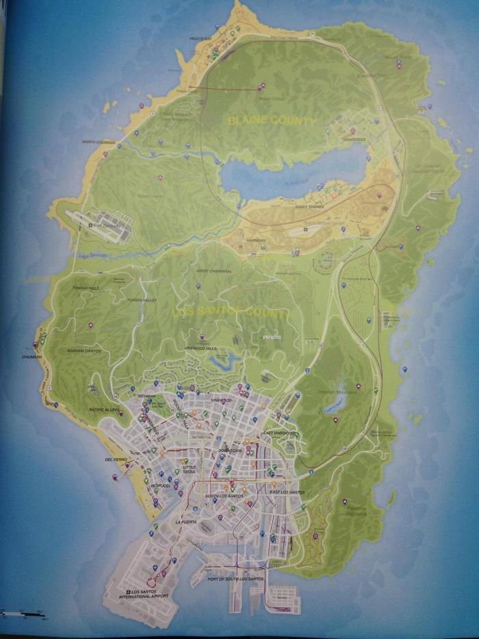 O mapa de Los Santos