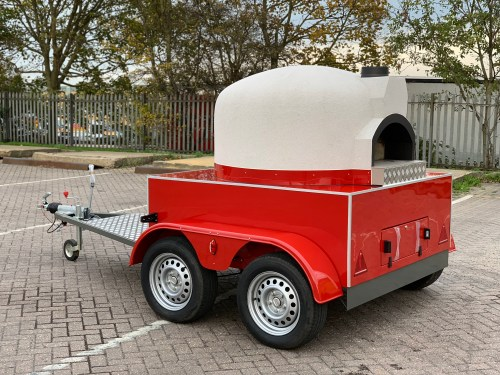 Mobile Wood (or gas) Fired Pizza Oven - Rear oven entrance