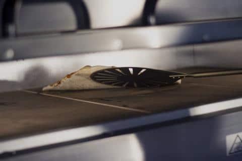 Gi Metal GOLD LINE-  Alluminium, Perforated Round Pizza Turning Peel 20cm / 171cm