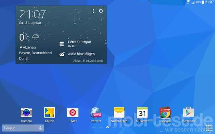 Samsung Galaxy Tab 4 10.1 LTE Screenshot