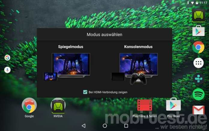 Nvidia Shield Tablet K1 Verbindung