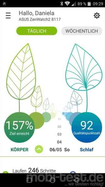 ASUS ZenWatch Wellness App (1)
