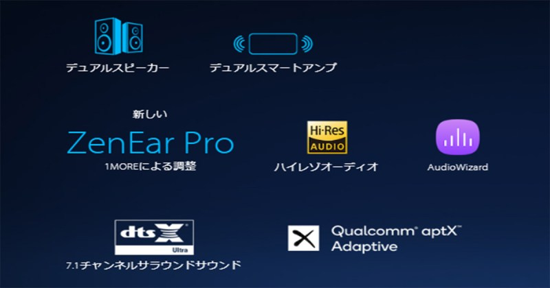 ZenFoneと言えばオーディオ機能も注目
