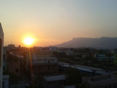 Setting sun - Tirupati