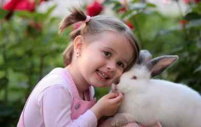 girl-rabbit-friendship-love