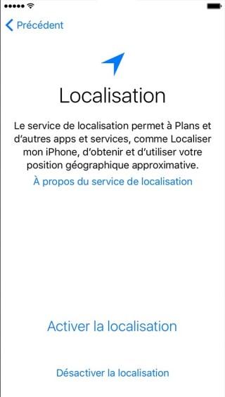 activation iphone etape 4 localisation