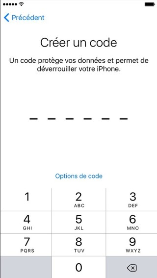 activation iphone etape 7 code