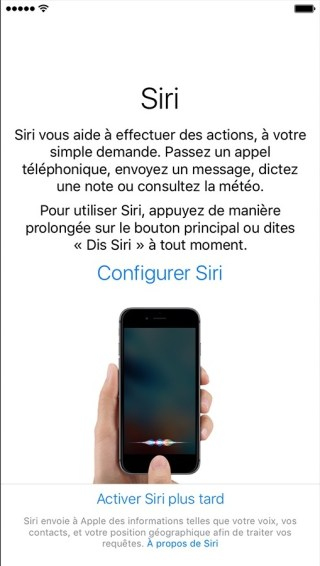 activation iphone etape 8 siri