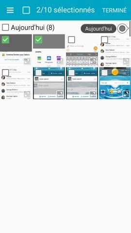 MMS Samsung android 5.x nouveau message photo selectionnés