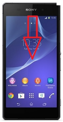 Sony Xperia Z2 centre de notif