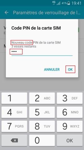 contact code pin ecran verrouillage Samsung android 5 code pin nouveau