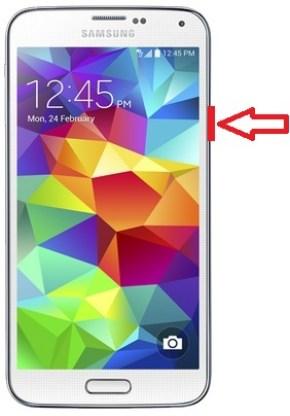 Samsung Galaxy S5 allumez eteindre