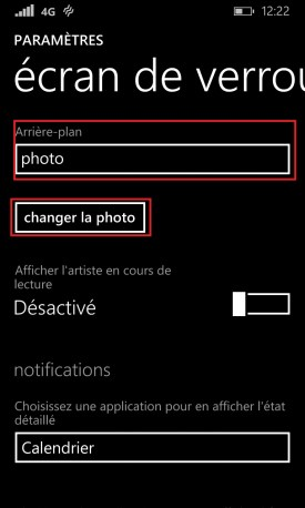 contact code pin ecran verrouillage Lumia windows 8.1 ecran de verrouillage photo