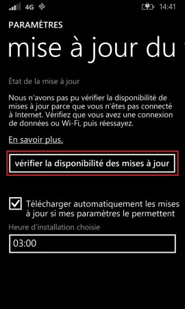Sauvegarder restaurer mettre à jour son Lumia windows 8.1 mettre a jour 2