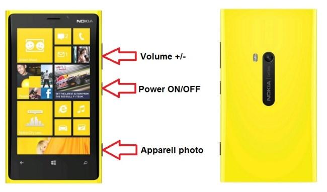Nokia Lumia 920 bouton