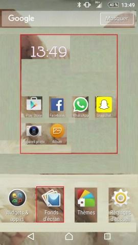 Personnaliser thème sonnerie et fond d'écran (Sony android 6.0) fond ecran