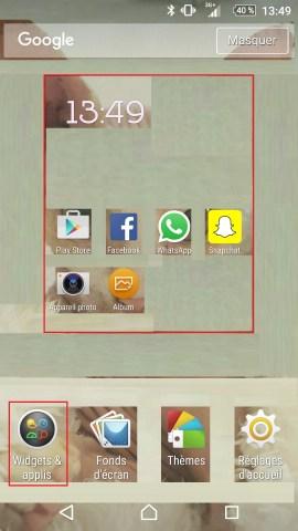 Personnaliser thème sonnerie et fond d'écran (Sony android 6.0) widgets