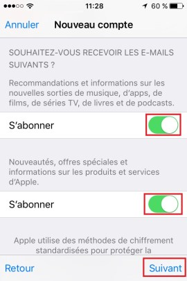 iphone ios9 app store compte creation 3