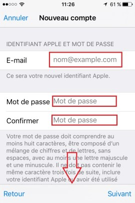 iphone ios9 app store compte creation