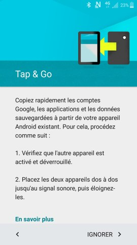 Activation Samsung mise en route tapgo