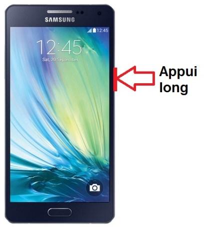 Samsung Galaxy A5 allumage