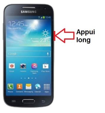 Samsung Galaxy S4 mini allumage