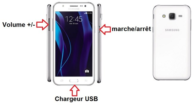 Samsung Galaxy J5 bouton