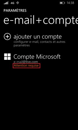 Windows store windows 8.1 compte microsoft attention requise