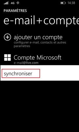 Windows store windows 8.1 compte microsoft synchroniser