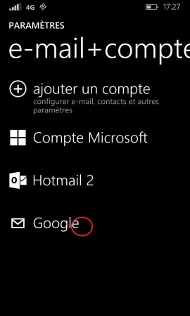 mail Lumia windows 8.1 email suppression compte
