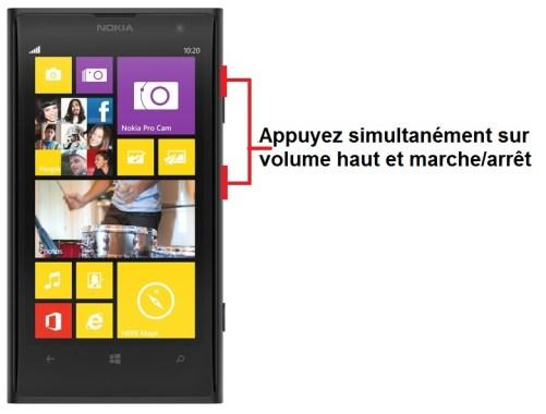 Nokia Lumia 1020 capture ecran