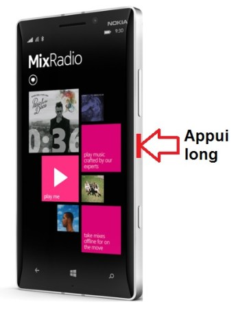 Lumia 930 allumage