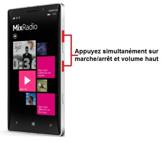 Nokia Lumia 930 capture écran