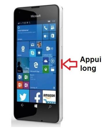 Microsoft Lumia 550 allumage