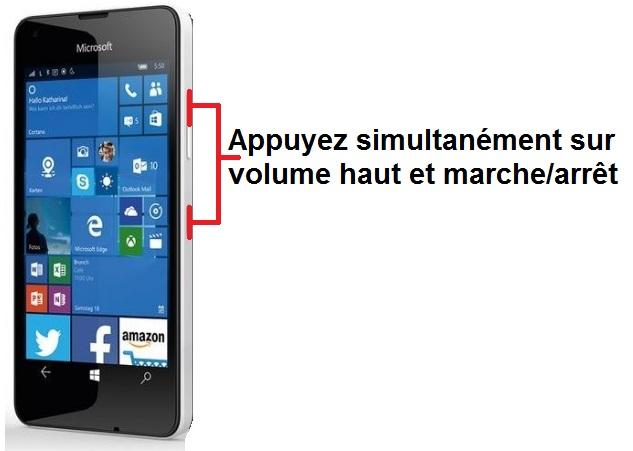 Microsoft Lumia 550 capture écran