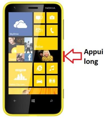 Microsoft Nokia Lumia 620 allumage