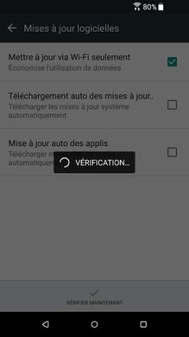 HTC android 7 mise à jour logicielle