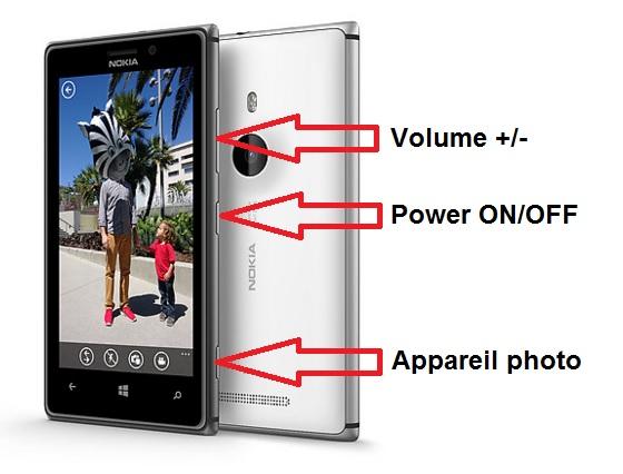 Nokia Lumia 930 bouton