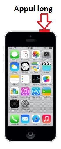 iphone 5C allumage